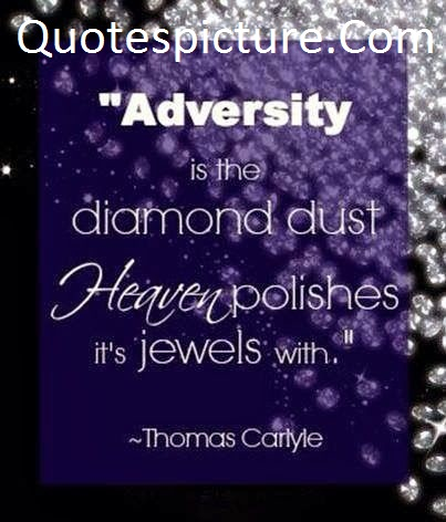 Adversity Quotes  - Adversity  Is The Diamond Dust By Thomas Cartyle