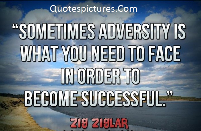 Adversity Quotes - Sometimes Adversity Is What You Need To Face By Zig Ziglar