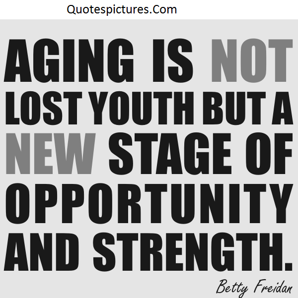 Aging Quotes - Aging Is Not Lost Youth By Betty Freidan