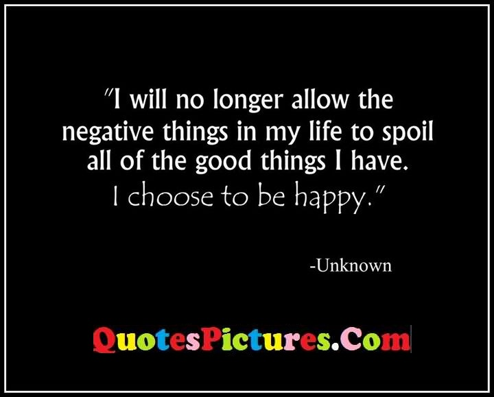 allow negative life happy