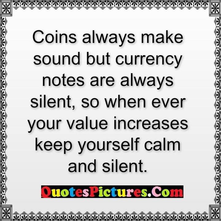 always notes silent increases calm