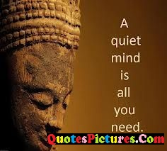 Amazing Hinduism Quote - A Quiet Mind Is All You Need.
