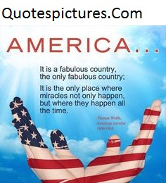 America Quotes - It Is A Fabulous Country By Thomos
