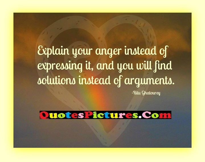 anger expressing solutions arguments