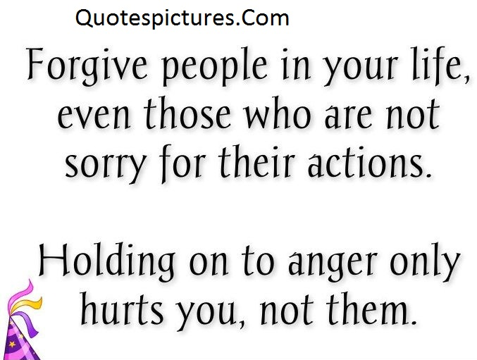 Anger Quotes - Holding On To Anger Only Hurts You Not Them