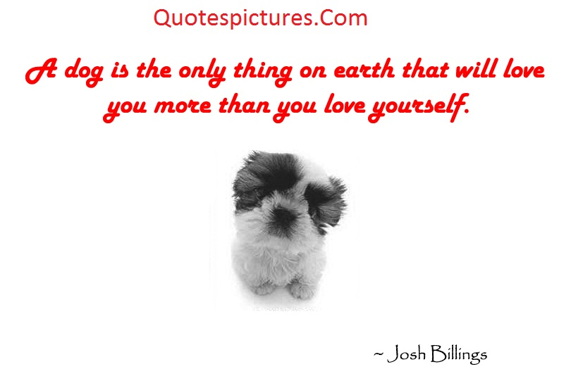 Animal Quotes - A Dog Is The Only Thing On Earth That That Will Love By Josh Billings