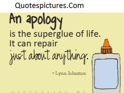 Apology Quotes - Just About Anything By Lynn Johnston
