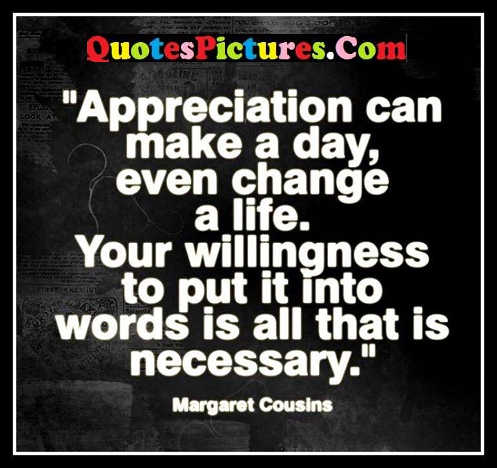 appreciation change words necessary