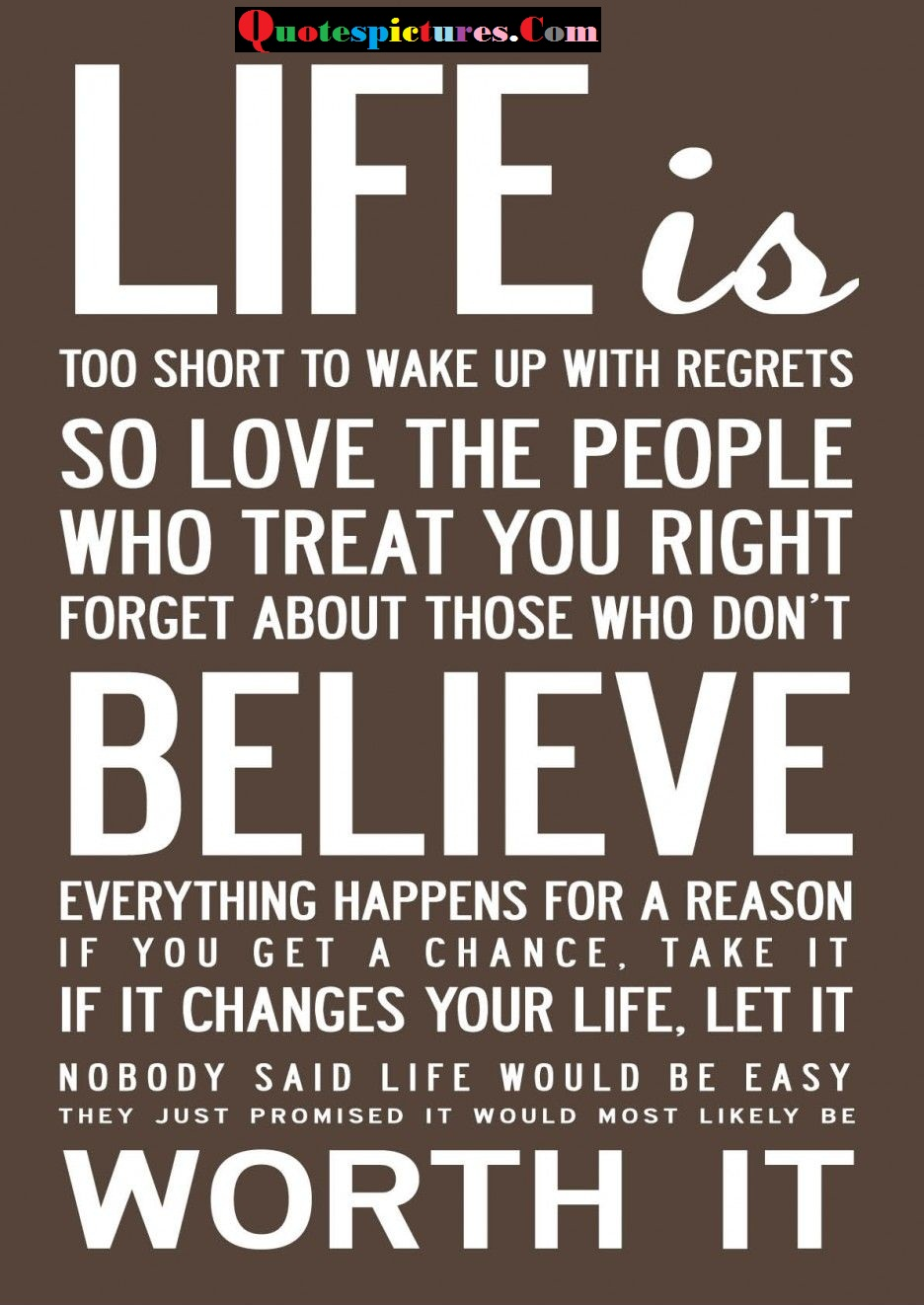 Balance Quotes  - Life Is Believe Worth It