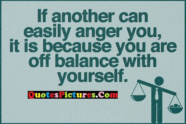 balance yourself