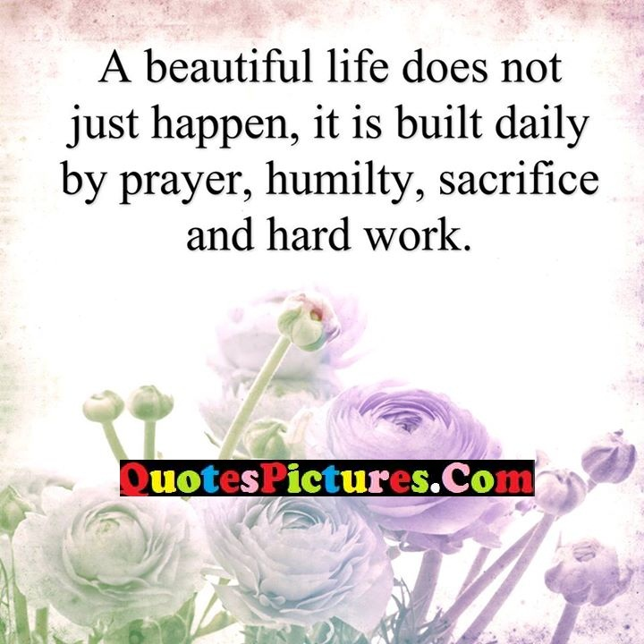 beautiful life prayer humilty