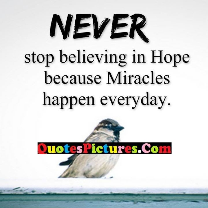 believing hope miracles everyday
