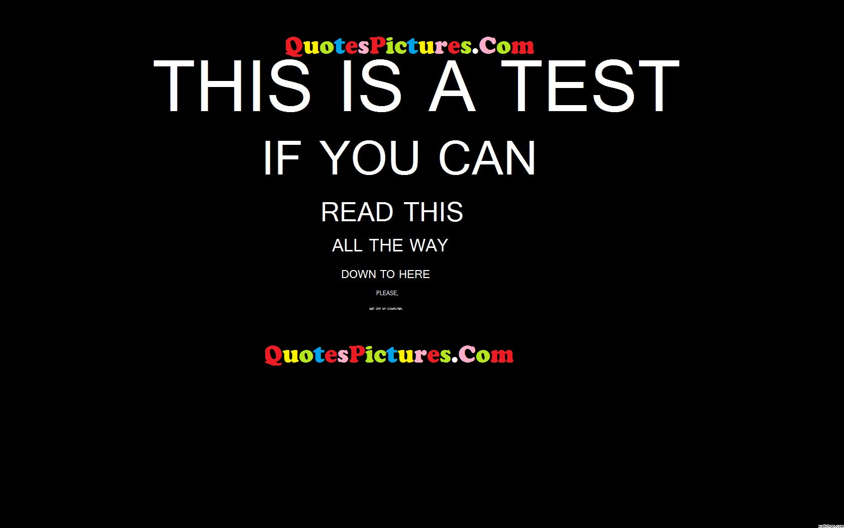 Best Life Quote - This Is A Test If You Can Read This All The Way Down To Here