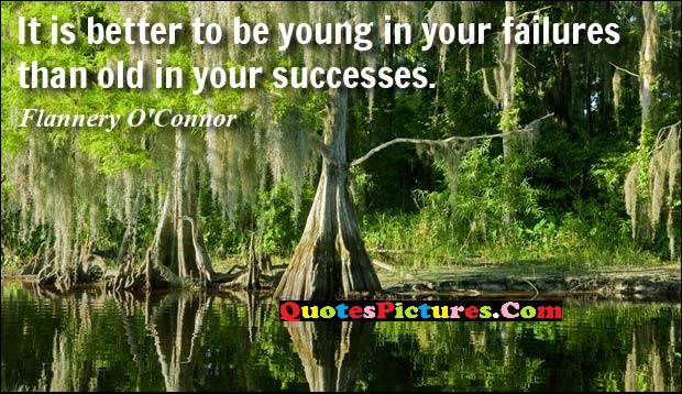 Best Unemployment Quote - It Is Better To Be Young In You Failure Than Old In Your Successes.