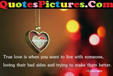 Better Love Quote - True Love Is When You Want To Live Someone