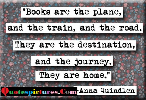 Books Quotes - Books Are The Plane And The Train And The Road By Anna Quindlen
