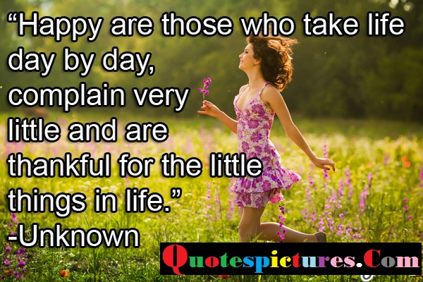 Boredom Quotes - Thankful For The Little Things In Life