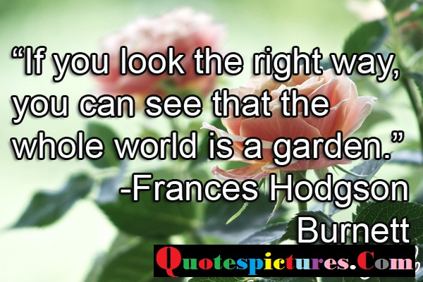 Boredom Quotes - You Can See That The Whole World Is  A Garden By Frances Hodgson Burnett