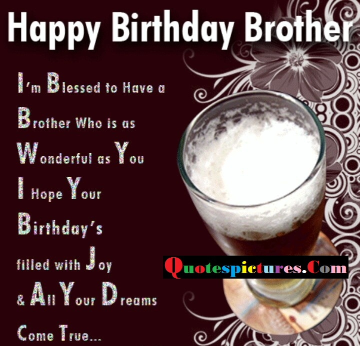 Brother Quotes - Birthday Blessings For Brother