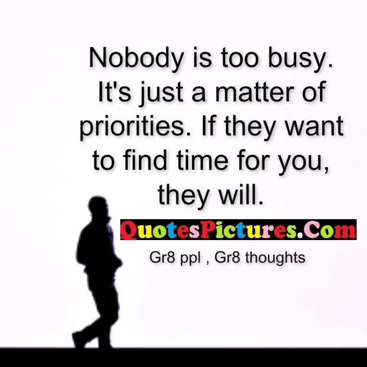 busy matter find time gr8 thoughts