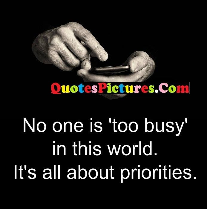 busy world about priorities