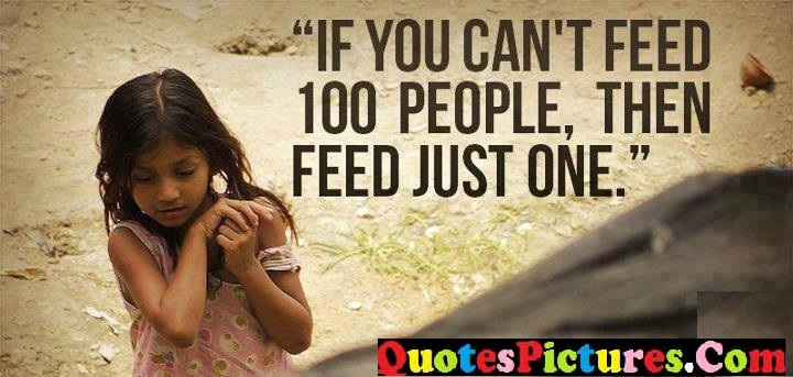 can't feed just one