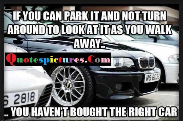 Car Quotes - You Have Not Bought The Right Car