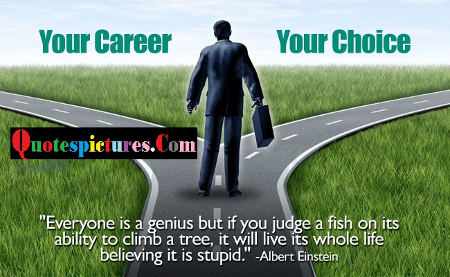 Carrer Quotes - Your Career Your Choice By Albert Einstein