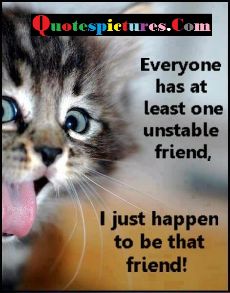Cat Quotes - I Just Happen To Be That Friend
