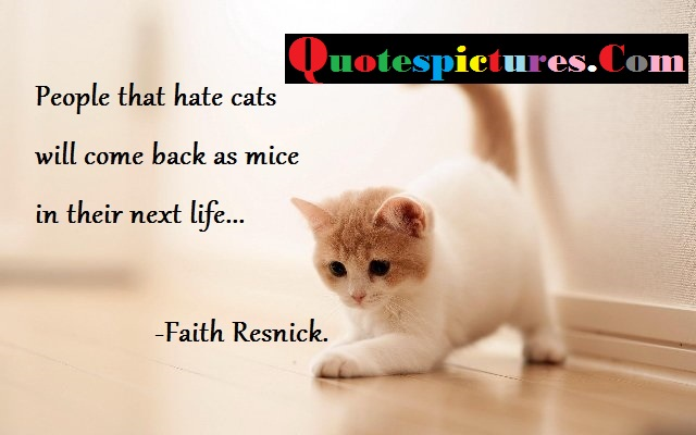 Cat Quotes - People That Hate Cats By Faith Resnick