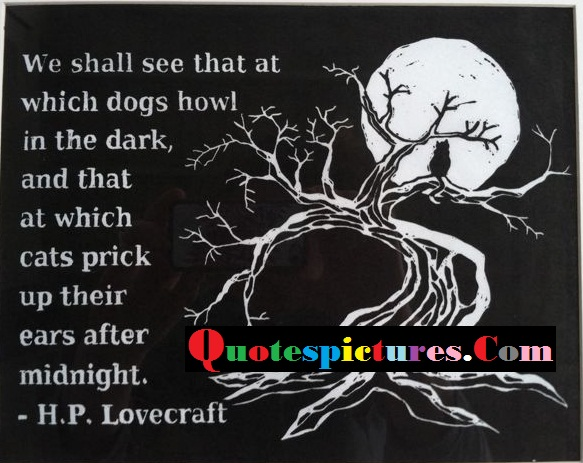 Cat Quotes - Which Cats Prick Up Their Ears After Midnight By H.P. Lovecraft
