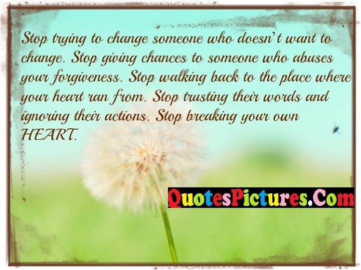 change abuses forgiveness heart