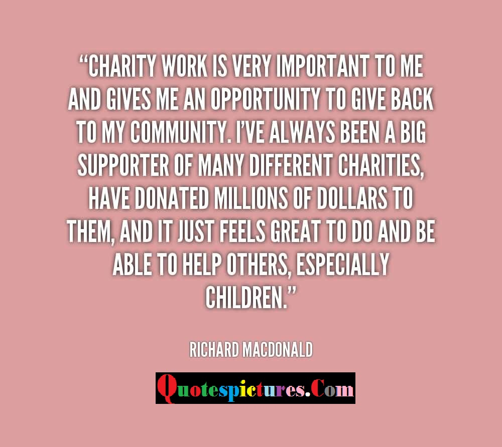 Quotes About Charity Charity Quotes Pictures And Charity Quotes Images  2