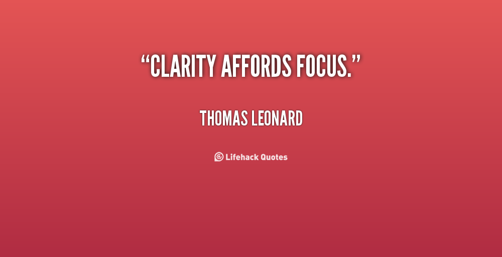 Clarity Quotes - Clarity Affords Focus By Thomas Leonard