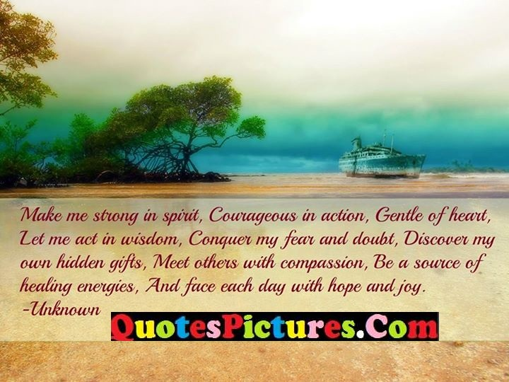 courageous wisom fear doubt