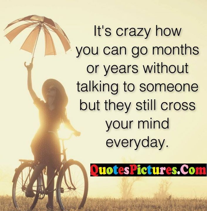 crazy months cross mind