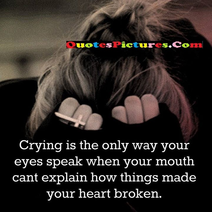 crying eyes explain heart