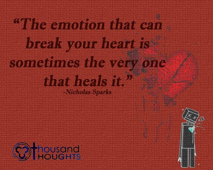 emotion heart heals quote