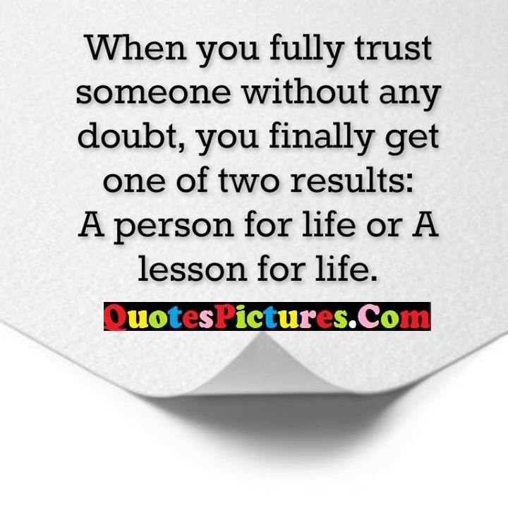 fully trust doubt finally results life
