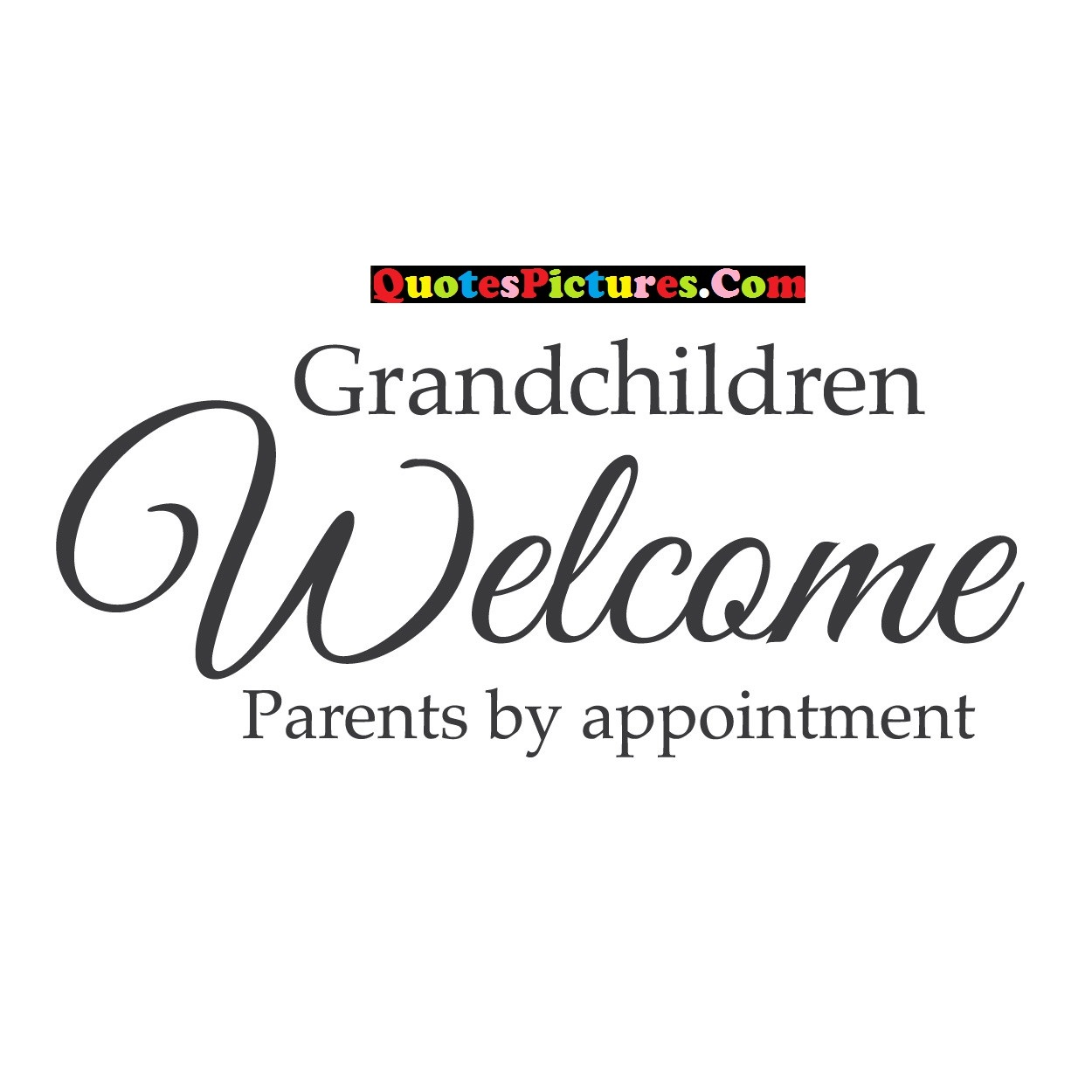 Grandmother Quote - Grandchildren Welcomer Parents By Appointment.