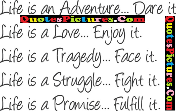 Great Life Quotes - Life Is an Adventure Dare It
