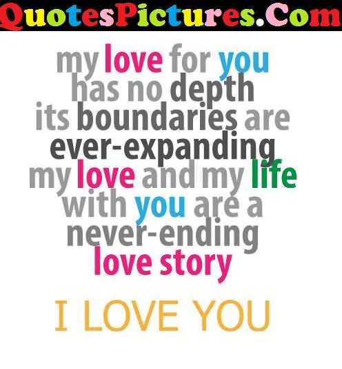 Great Love Quote - You Are A Never Ending Love Story