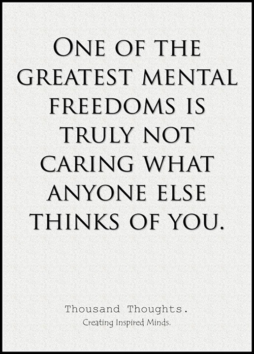 greatest mental freedoms thinks
