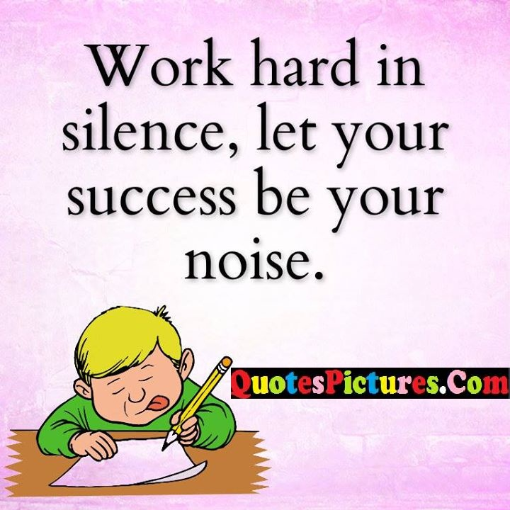 hard silence success noise