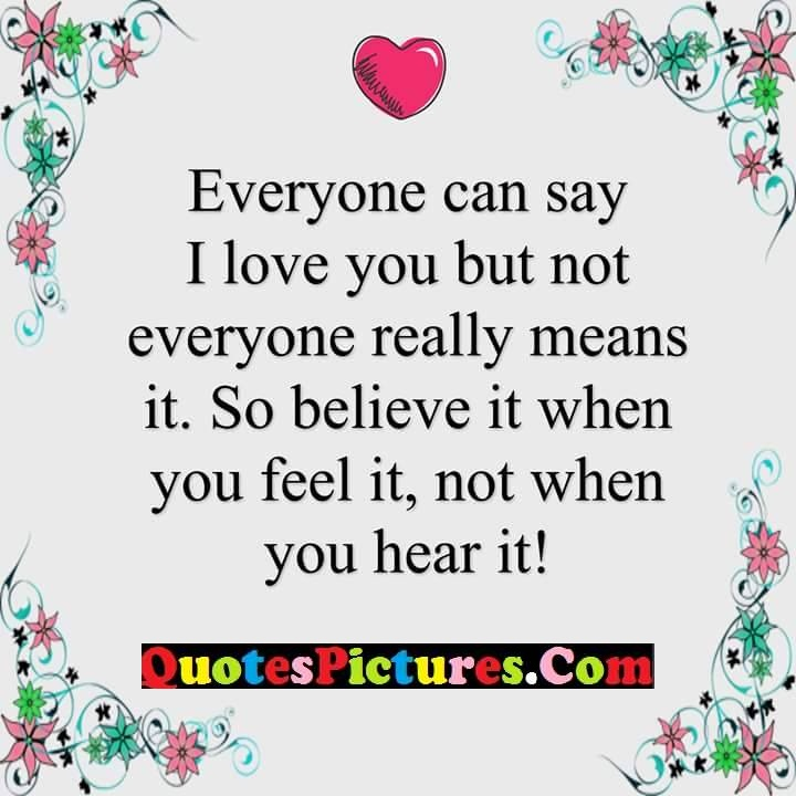 i love you really believe feel