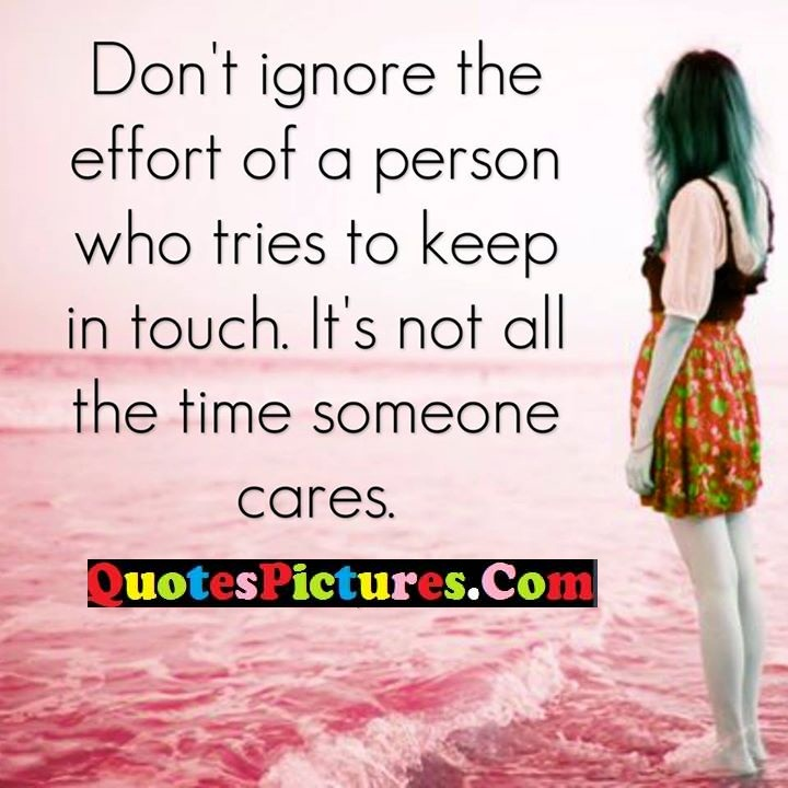 ignore effort tries touch cares