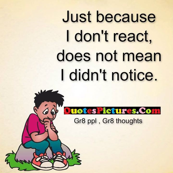 just react mean notice