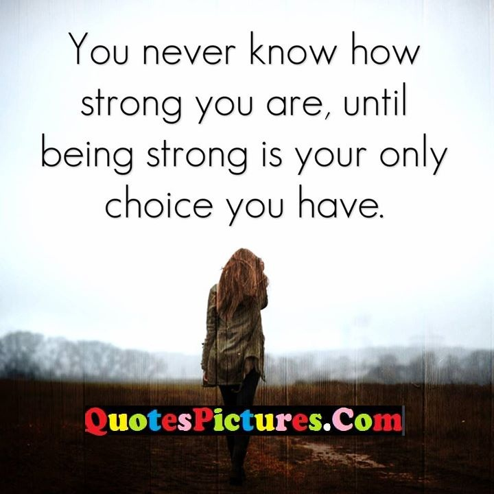 know strong until choice