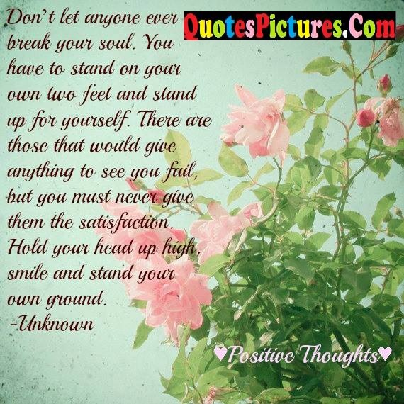 let stand feet youself