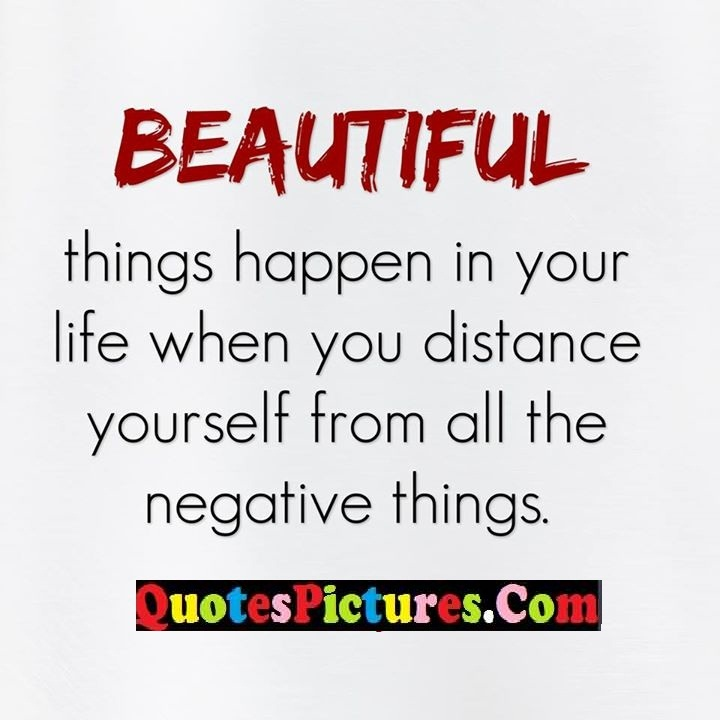 life distance yourself negative